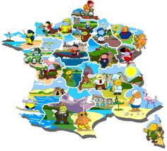 Ideje za oglede in recepti po regijah. French Class, French Lessons, Teaching French, French Alphabet, French Songs, France Map, French Resources, French Immersion, Geography