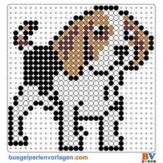 Hund Bügelperlen Vorlage