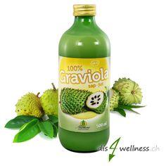 Graviola Saft (Guyabano), 500 ml - Vitamin C, Superfoods, The 100, Drinks, Bottle, Glass Bottles, Juice, Health, Swiss Guard