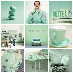 Obsessed with Neo Mint! Fresh, futuristic and high tech, Neo Mint is a gender-neutral colour that reminds us of Spring and the fragility of the environment. This is the colour predicted to be the new Millennial Pink by 2020 according to Jane Monningt New York Times, Color Menta, Mint Color, Pinterest Trends, Fashion Bubbles, Gender Neutral Colors, Looks Street Style, Color Balance, Spring Summer Trends