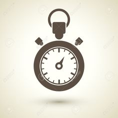 Retro Style Stopwatch Icon Isolated On Brown Royalty Free Cliparts ...