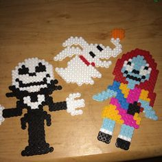 I think I found my next project... Nightmare Before Christmas perler beads.