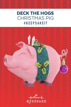 This Hallmark Keepsake Ornament is pure hog-happiness and a perfect Christmas gift idea for merrymakers who love pigs, farm life or just a good holiday ham. Hang it on your Christmas tree for good laughs for years to come.  #KEEPSAKEIT