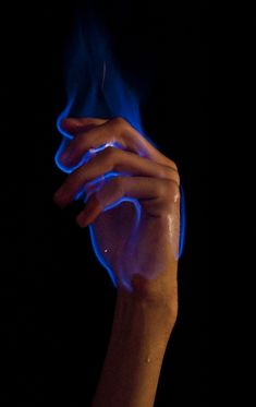 Her fire only turns blue when she is in a cold rage - it is like she becomes a different person. And it is terrifying.