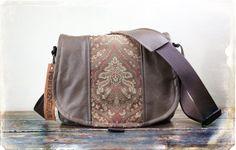 Leather Camera Bag New Satchel    Jacquard Medium by PorteenGear, $140.00