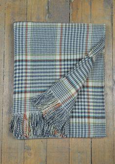 Luxury Lambswool Blanket in Clyde Tartan