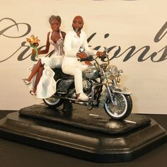 Motorcycle Couple Wedding Cake Topper Motorcycle Cake Topper