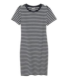 Check this out! Short-sleeved dress in soft cotton jersey. - Visit hm.com to see more.