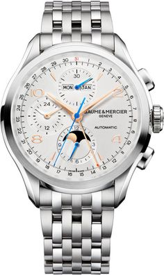 Baume et Mercier Watch Clifton #add-content #bezel-fixed #bracelet-strap-steel…