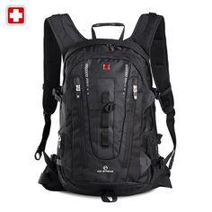 正品瑞士十字双肩包 登山包男女韩版潮 大容量户外旅行包男式包包