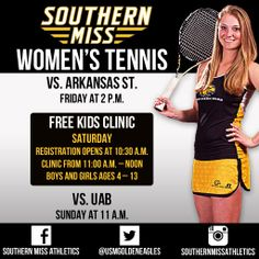 Come out and cheer on your Women`s Tennis team this weekend!