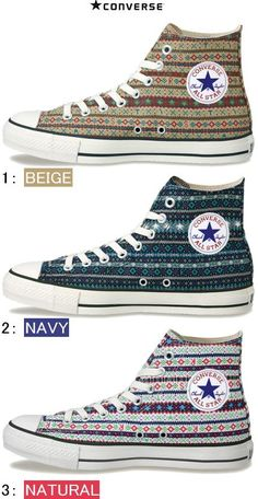 Fair Isle high tops!