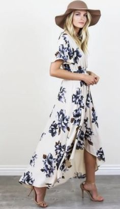 Flower print maxi dress. Stitch Fix spring/summer 2017 inspirations. Ask you stylist for something like this. Click on the picture to fill out your style profile. #sponsored