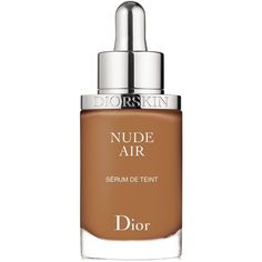 Dior Diorskin Nude Air Serum Foundation Spf 25 ($53) ❤ liked on Polyvore featuring beauty products, makeup, face makeup, foundation, dark beige, christian dior foundation, spf foundation, christian dior and mineral foundation