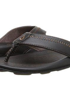 OluKai Hiapo (Black/Black) Men's Sandals - OluKai, Hiapo, 10101-4040, Men's Casual Sandals Sandals, Thongs/Flip-Flops, Casual Sandal, Open Footwear, Footwear, Shoes, Gift - Outfit Ideas And Street Style 2017