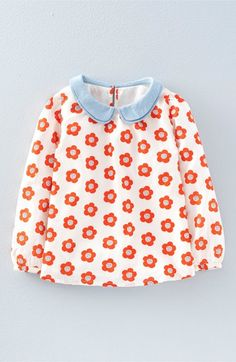 Mini Boden 'Pretty Collar' Print Top (Toddler Girls, Little Girls & Big Girls) available at #Nordstrom