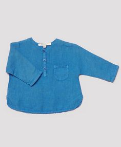 Santorini Baby Shirt, Indigo Blue, Caramel Baby & Child.