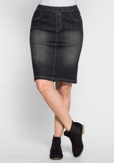 sheego Denim SHEEGO DENIM jeansrok in used-look online kopen