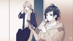 Honey Works, Cute Anime Boy, Vocaloid, Lips, Manga, Snow, Couple, Random, Character Design