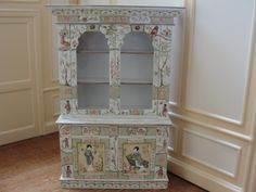 Renee Isabelle - hand painted Oriental china cabinet
