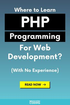 Find the best PHP courses to learn coding and web development for beginners. Use these courses to learn PHP basics and programming fundamentals fast. Basic Programming, Programming Tutorial, Python Programming, Computer Programming, Online Coding Courses, Coding Websites, Best Online Courses, Learning Web, Deep Learning