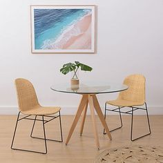 Bleeker Round Glass Dining Table