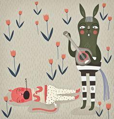 Adorable animal illustration (good night)