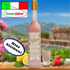 Das schmeckt nach Sommer: Ein harmonisches Duo aus Erdbeeren und Zitrone! Hier klicken: http://blogde.rohinie.com/2013/02/grappa/ #Italien #Grappa #Spirituosen #Likoere #Cremelikoere #Kraeuterlikoere #Fruchtlikoere