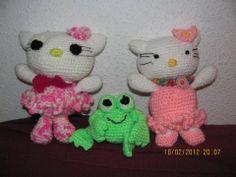 Hello Kitty y sapito de Chuti Daniela!