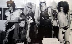 Axl Rose, GUNS N' ROSES, original line-up, late 80s