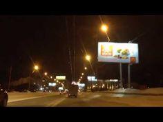 Прогулка по Новосибирску на автомобиле ночью.  Novosibirsk progylka