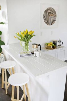 how to hide your ugly countertops on domino.com