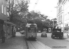 """Bochum Dahlhausen """"City"""" 1978 noch mit Eisenbahnbrücke an der Dr.-C.-Otto-Straße"""