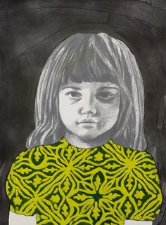 Girl 6 - Claerwen James, monoprint