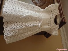 Платье связано из белого хлопка для новорожденной девочки Ниточки Alize Miss Крючок №1,2. Вот источник вдохновения https://www.stranamam.ru/