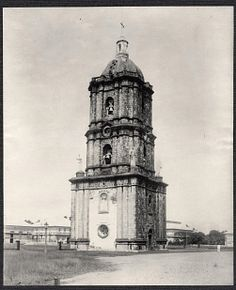 Cathedral bell tower, Ilolio, the Philippines. Photo by Burr McIntosh