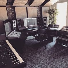 """1,975 Likes, 40 Comments - © (@musicstudioz) on Instagram: """"Do you produce on a PC or Mac? (Studio: @windhavenbaystudios) ———————————————————————— • Follow…"""""""