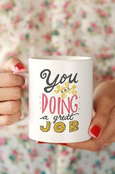 You're doing a great job.