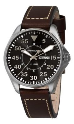 Hamilton Men's H64611535 Khaki King Pilot Black Day Date Dial Watch Hamilton. $371.38. Water-resistant to 660 feet (200 M). Pin buckle. Luminous hands; Round case. Black dial. Day date