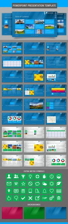 Metro style PowerPoint Presentation Template