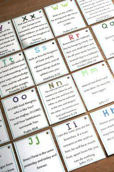 Alphabetical Bible Verses