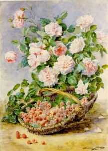 Roses and Rasberries - Madeleine Jeanne Lemaire