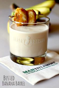 This drink tastes just like bananas foster in a glass! Amazingly good. www.mantitlement.com