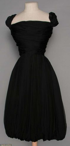 Balmain Evening Dress, 1950s, for upcoming auction. #vintage