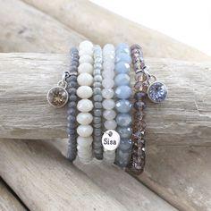 # Sisa bracelets # Swarovski pointed stones # and # beautiful beautiful Sisa arm . - # SisaArmbänder Beautiful Sisa bracelets and Swarovski point - Diy Jewelry Unique, Dainty Jewelry, Cute Jewelry, Boho Jewelry, Bridal Jewelry, Jewelry Crafts, Beaded Jewelry, Jewelery, Jewelry Bracelets