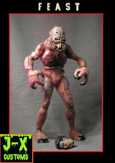 horror movie action figures   feast movie maniacs by j x another cool monster from the horror movie ...