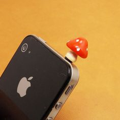 Mini White Spot Red Mushroom Anti Dust Plug 3.5mm Phone Accessories Charm Headphone Jack Earphone Cap for iPhone 4 4S 5 iPad HTC Samsung on Etsy, $2.99