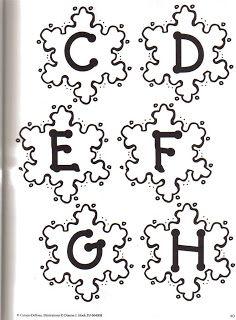 ~Fofuchinho's2~: Letras e Números-com moldes.
