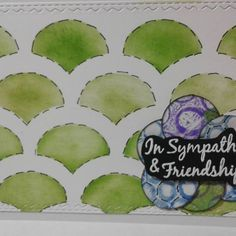 Condolences card. Ink and stencil. Gelli printed circles. #papergeometryco