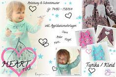 eBook Schnittmuster HEARTrock Tunika / Kleid 74-164